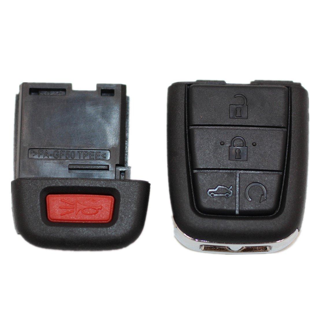 Ezzy Auto Key Fob Shell Cover Smart Keyless Entry Remote Case for 2008 Pontiac G8 2009 Pontiac G8 5 Buttons