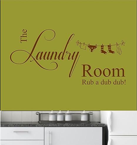 Laundry Room Rub a Dub Dub Vinyl Wall Art Sticker, Decal, Mural ...