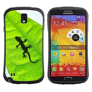 LASTONE PHONE CASE / Suave Silicona Caso Carcasa de Caucho Funda para Samsung Note 3 N9000 N9002 N9005 / Cute Lizard Leaf Reptile Gecko