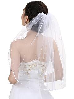 Amazon Com Wedding Veil Bridal Bride Inch One Tier Ivory