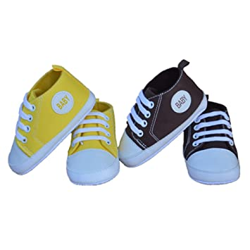 ee711a9bfac79 Amazon.com : BootKitchenTan Baby Canvas Shoes Soft Boy and Girls ...