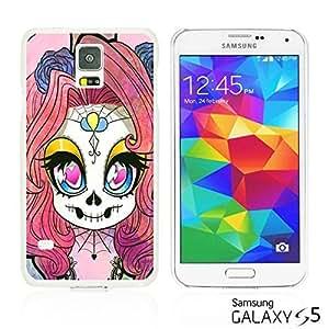 OnlineBestDigital - Skull Pattern Hardback Case for Samsung Galaxy S5 - Cute Skull Girl