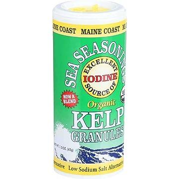 best Maine Coast Organic Sea Seasonings - Kelp Granules - 1.5 oz Shaker - Case of 3 reviews