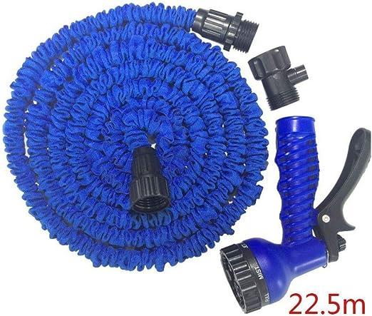 Sistema de riego de jardín Zeagro - Mangueras de plástico Flexibles for el Agua de jardín - Manguera de plástico - Azul 3: Amazon.es: Hogar