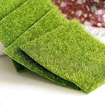DatingDay Artificial Grass Fake Lawn Grass Miniature Dollhouse Home Garden  Ornament (1 Pcs)
