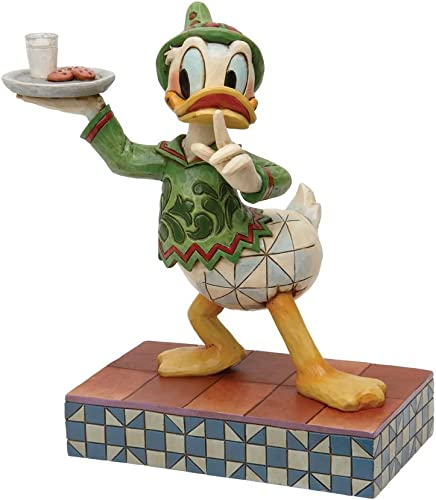 Enesco Disney Traditions Designed by Jim Shore Elf Donald with Cookies Figurine 6.75 in