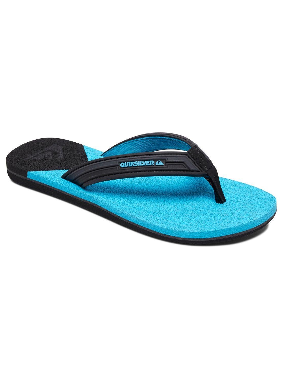 Quiksilver Men's Molokai New Wave Sandal,Black/Blue/Blue,Sz. 12