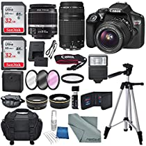 Canon EOS Rebel T6 18MP Wi-Fi DSLR Camera w/18-55mm IS II Lens + EF 75-300mm