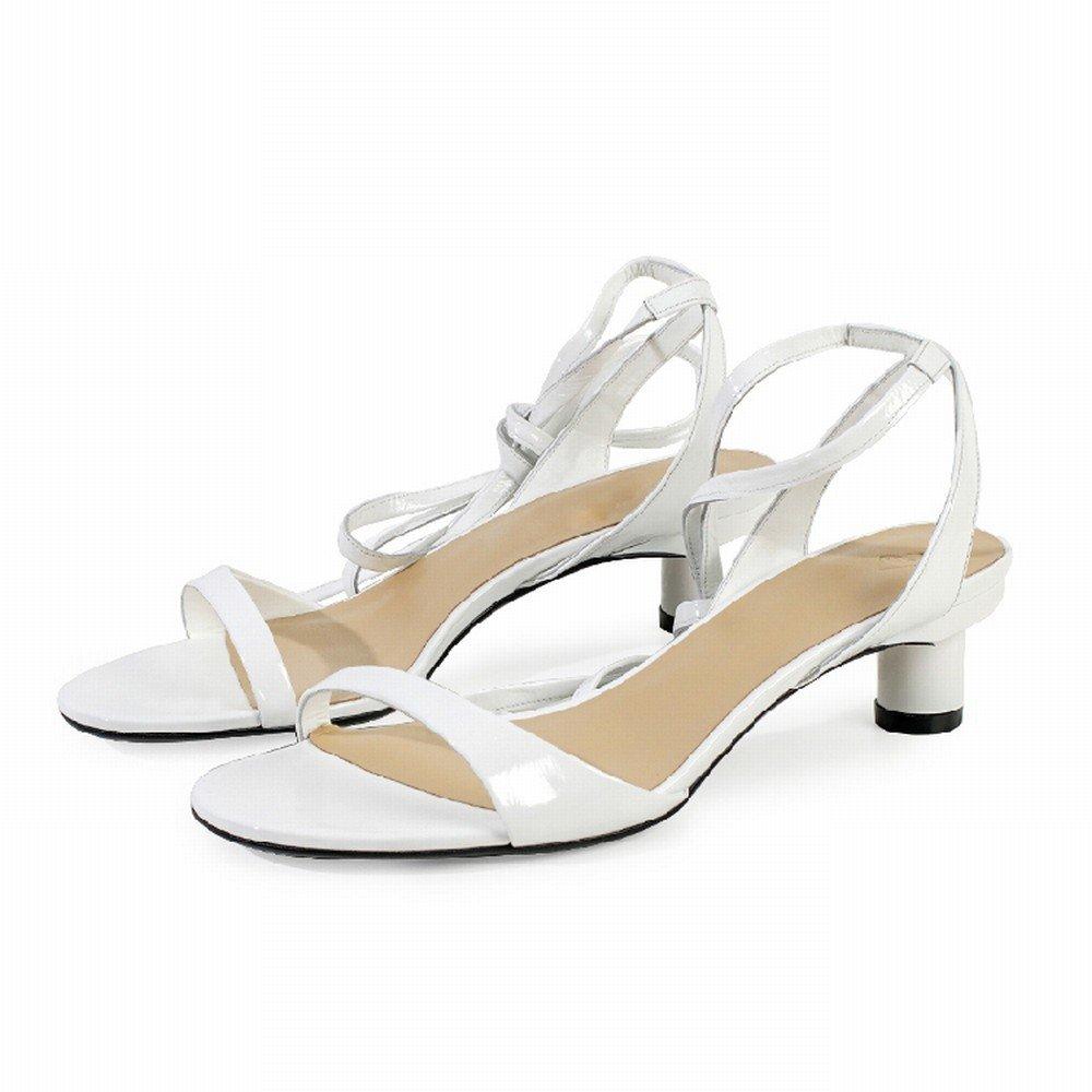 DHG Sommer Einfache Ballett Ballett Ballett Riemen mit Freiliegenden Finger Sandalen,Weiß,39 77e41c