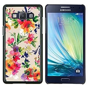 Stuss Case / Funda Carcasa protectora - Flores del vintage Dibujo Wallpaper Flores - Samsung Galaxy A5 ( A5000 ) 2014 Version