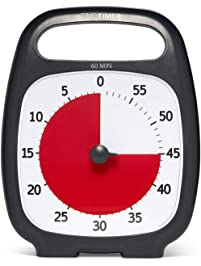 Time Timer PLUS 60 Minute Visual Analog Timer ; Optional Alert ; Silent Operation ; Time Management Tool