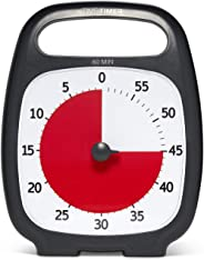 Time Timer PLUS 60 Minute Visual Analog Timer (Charcoal); Optional Alert (Volume-Control Dial); Silent Operation (No Ticking)