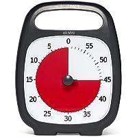Temporizador de tiempo Plus (5, 20, 60 o 120 minutos) con temporizador analógico visual, 60 Minutos (Gris carbón), Gris carbón