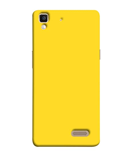 san francisco 73d19 9b9a7 Printvisa Oppo R7 / R7 Lite Back Cover Plain Yellow: Amazon.in ...