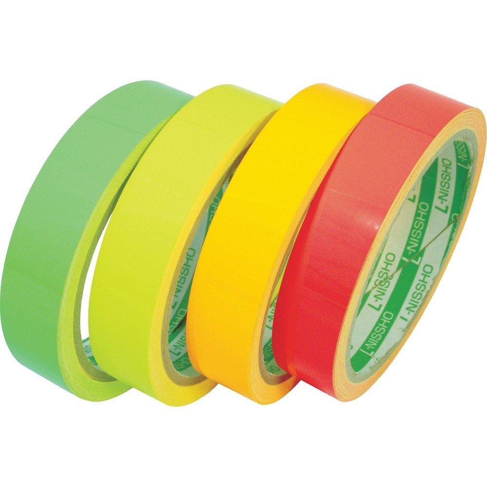 日東エルマテ 蛍光テープ 400mmX5m グリーン LK-400GN 反射テープ B0795BXVD5