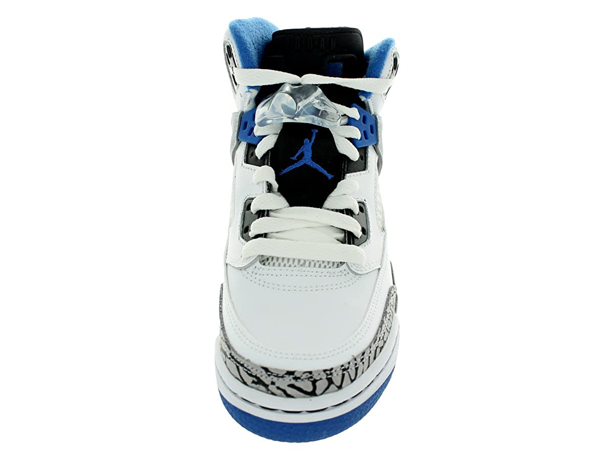 super popular b39ad 7589f nike air jordan SPIZIKE (GS) easter hi top trainers 317321 sneakers shoes  (uk 6 us 6.5Y eu 39, white sport blue black wolf grey 107)  Amazon.co.uk   Shoes   ...