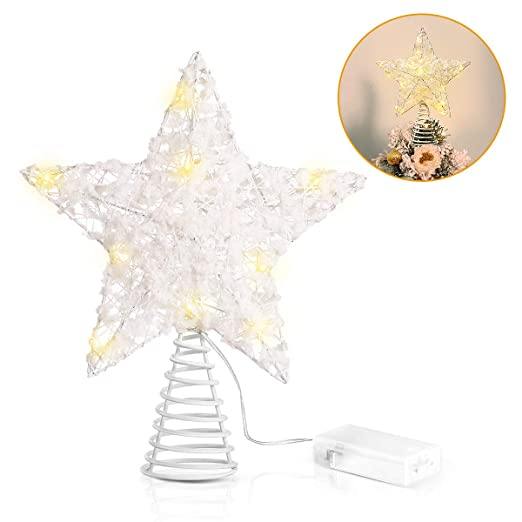 Unomor - Decoración para árbol de Navidad, diseño de Estrellas ...