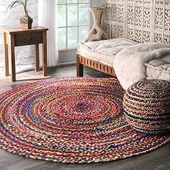 nuLOOM Casual Handmade Braided Cotton Round Area Rug, 6
