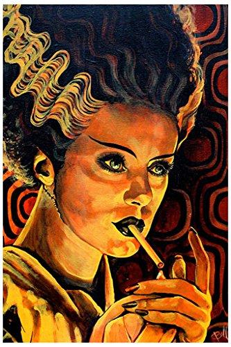Looking for Monster Love by Mike Bell Bride of Frankenstein Smoking Art Print]()