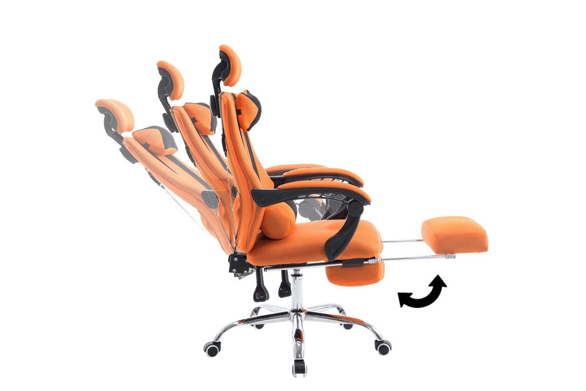 CLP Silla Racing Fellow Tapizada en Red I Silla Gaming con Soporte Metal Cromado & con Ruedas I Silla Gamer Regulable en Altura I Color: Naranja: Amazon.es: ...