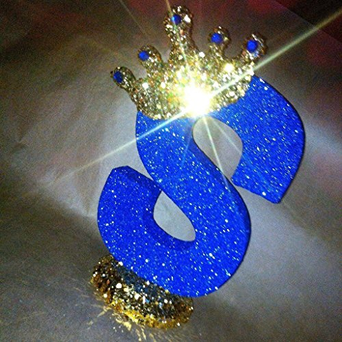 Royal themed centerpieces for baby shower centerpieces. Glitter crown centerpieces. Prince theme or Princess theme 10