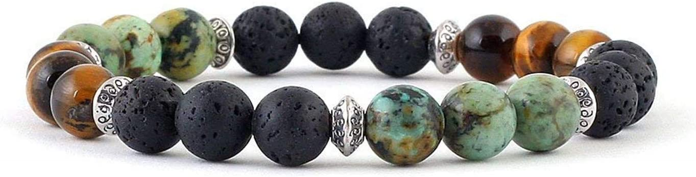 JJG 4mm Natural African Turquoise Stone Beads Round Loose Gemstone Beads DIY Bracelet Necklace for Jewelry Making Approx 96 Pieces