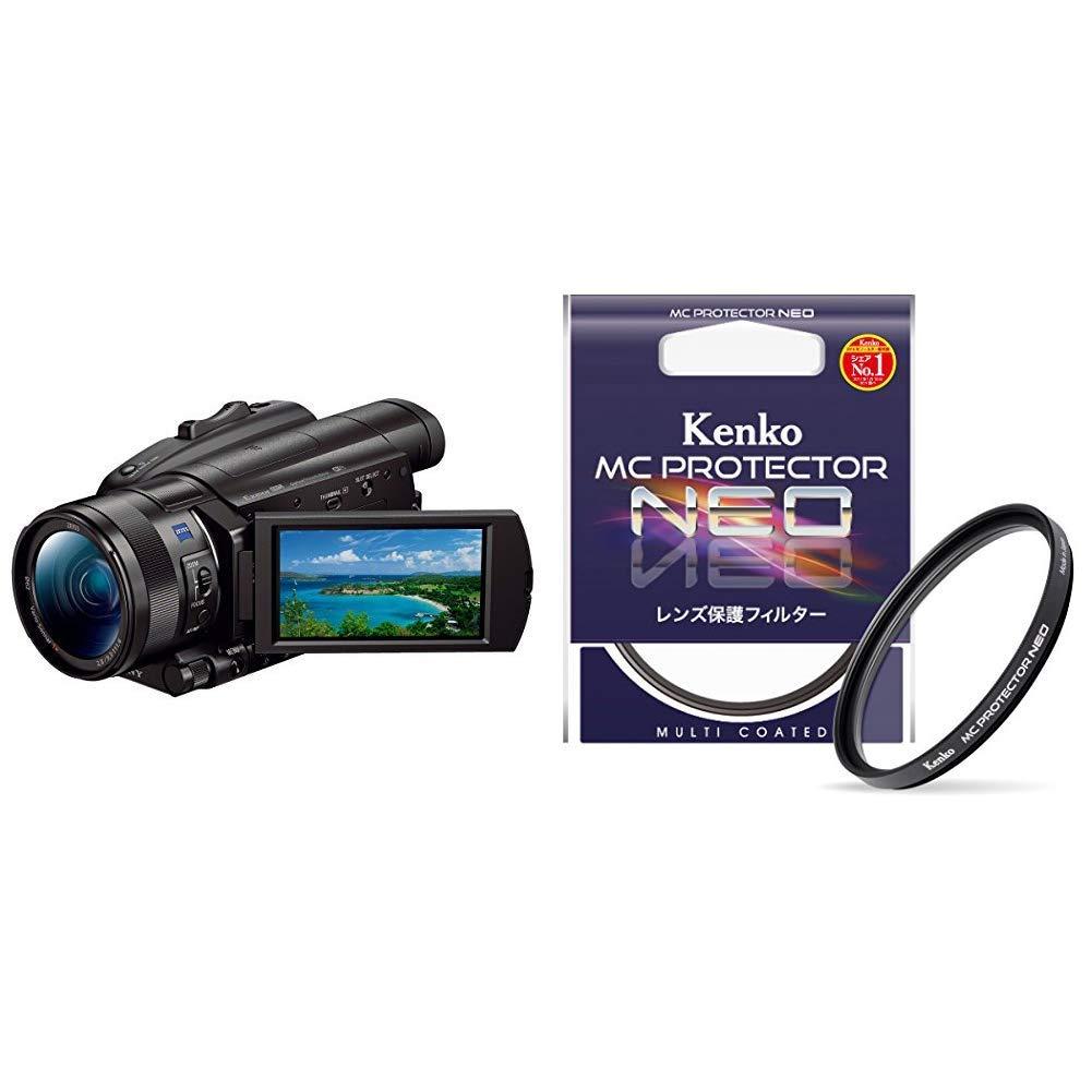 ソニー SONY 4Kビデオカメラ Handycam FDR-AX700 & Kenko カメラ用フィルター MC プロテクター NEO 46mm レンズ保護用 724606  ブラック B07RP7CKML