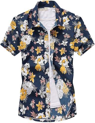 Fansu 3D Camisa Hawaiana para Hombre, Fiesta Tropical de Manga Corta Impreso Camisas de Trabajo Surf Funky Camisa Señores: Amazon.es: Ropa y accesorios
