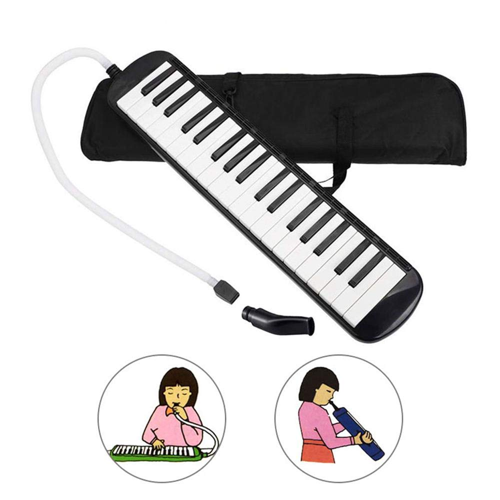 Volwco 37 Key Melodica, Piano Style Blow Keyboard Musical Instrument with Carrying Bag, Mouthpiece, Tube Accessories for Adult Kids Beginner Music Lovers Gift