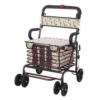 Carrito de la compra plegable de hierro viejo hombre para aumentar fertilizantes para comprar alimentos ocio