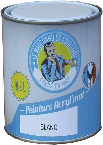Peinture Onip Le Marchand De Couleur Blanc 0 5 L Acryl Mat Amazon Fr Bricolage