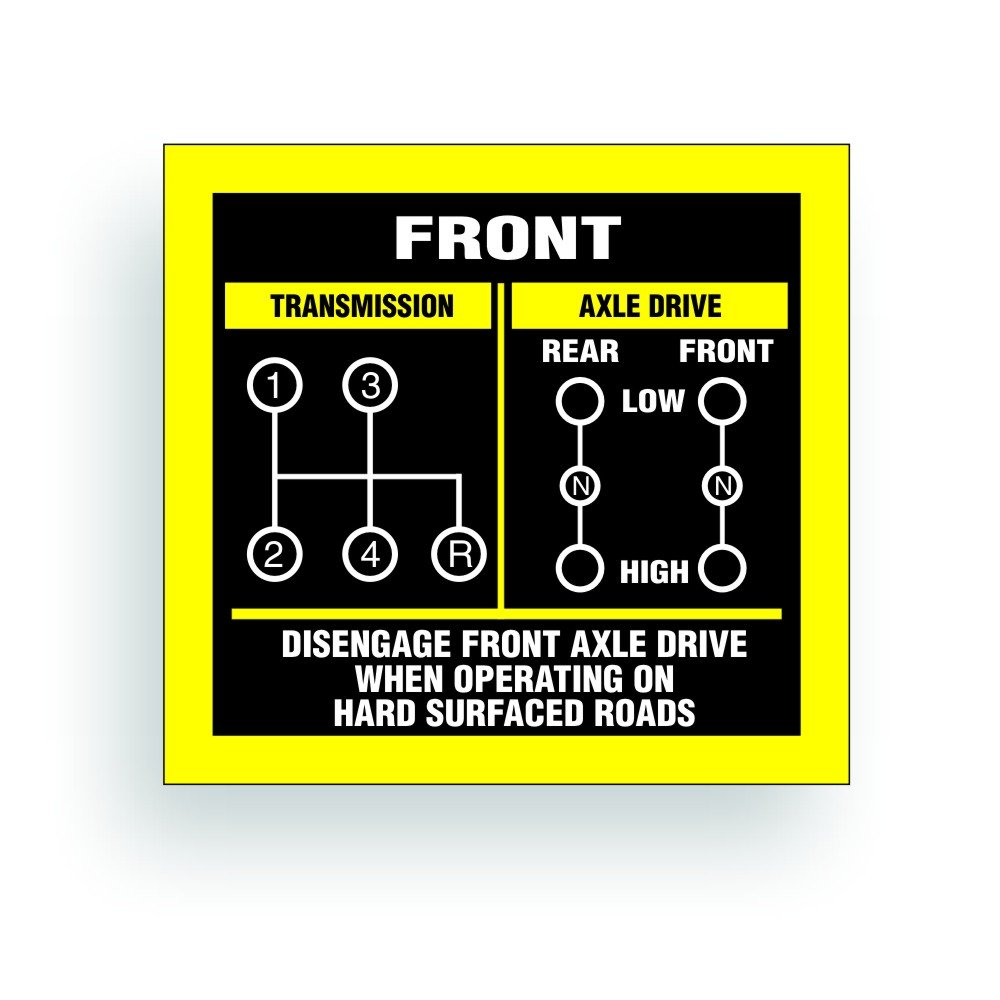 Solar Graphics USA Transmission Shift Pattern Decal - Compatible with Jeep,  Willys Or CJ May Fit Transmission and Transfer Case Models Dana 300 NP435,