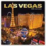 Las Vegas 2018 Monthly Square Wall Calendar FOIL