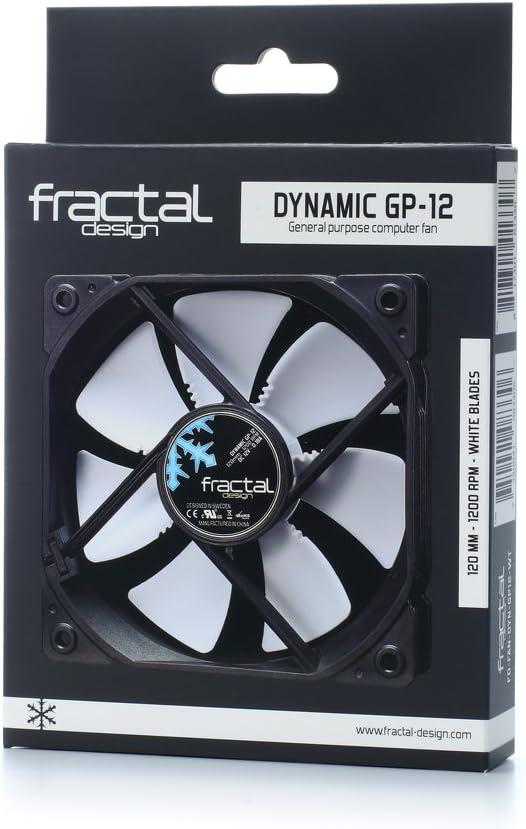 White Blades, Black Fractal Design Dynamic FD-FAN-DYN-GP12-WT 120mm Case Fan