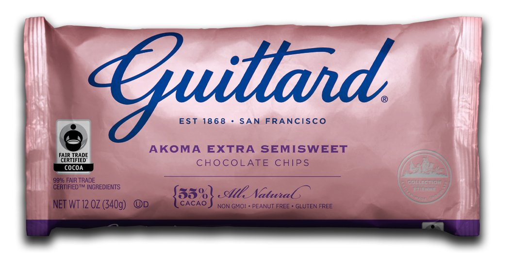Guittard Chocolate Chips, Akoma Semi Sweet, 12 Ounce (Pack of 12) by Guittard Chocolate