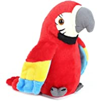 MISLD Talking Parrot Plush Toy, Mimicry Pet Talking Parrot Plush Toy Lovely Talking Parrot Toy Doll for Kids(Blue) ( Color : Red )