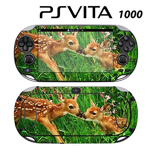 Decorative Video Game Skin Decal Cover Sticker for Sony PlayStation PS Vita (PCH-1000) - Sweet Deer Bambie Kisses -  Decals Plus, PV1-AN16