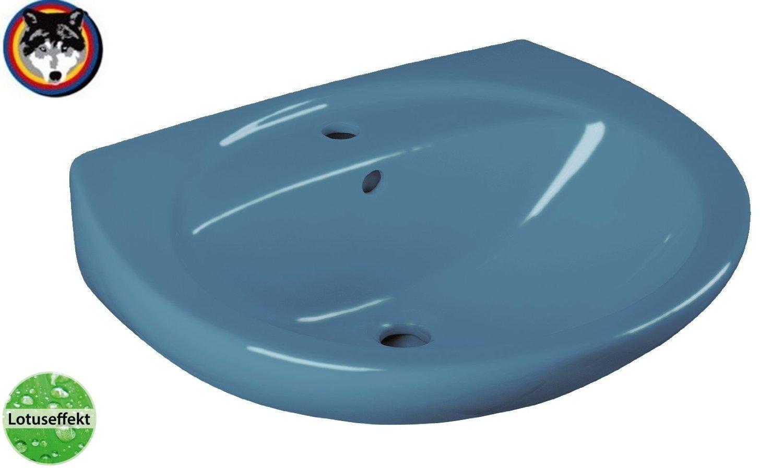 Cornat Farbklassiker Waschtisch 60 cm, Nostalgiefarbe  bermudablau, Lotusclean