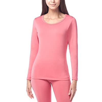 LAPASA Women's Lightweight Thermal Underwear Top Fleece Lined Base Layer Long Sleeve Shirt L15 at Women's Clothing store