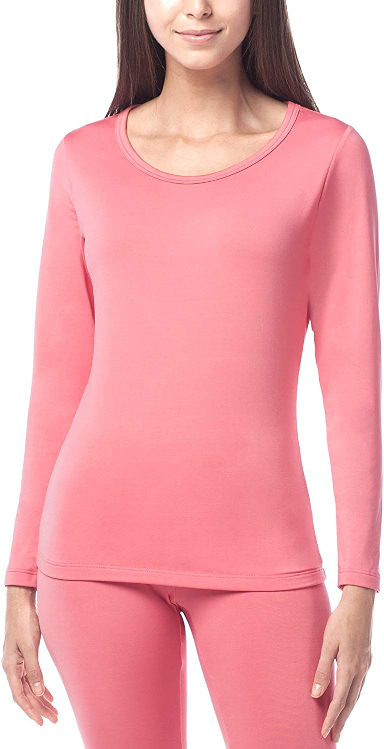 Thermal Underwear Top for Women V Neck Lace Long Sleeves Thermal Underwear Shirts Fleece Lined Undershirt Winter Base Layer