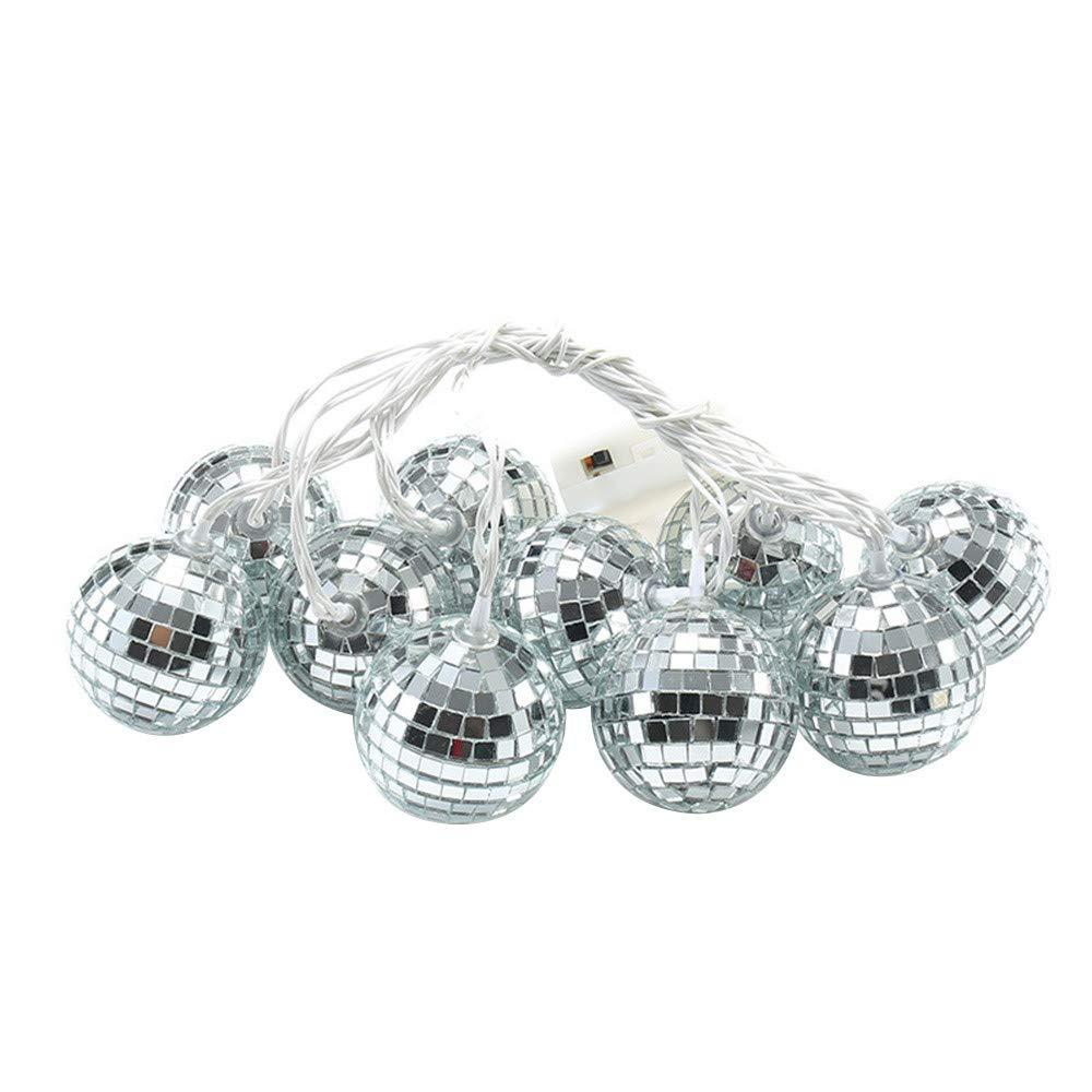 Convinced Christmas Lights Multicolor,Seasonal Lighting,String Lights Moroccan Ball 10/20LED Globe Fairy String Orb Lantern Patio