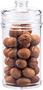 Reinforced XX Large Acrylic Storage Jar, Airtight Lid Cookie Jar | Perfect for Cookies, Dried Fruits, Nuts, Herbs,Cereals,etc. | 1900ML/64oz