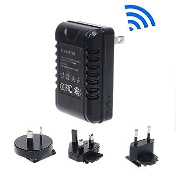 Corprit Adaptador multi-conector de C.A. desmontable para viajes con cámara espía Full HD 1080p
