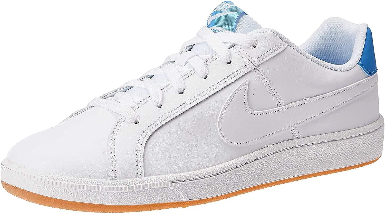 Además ruptura Profecía  Buy Nike Men's Court Royal White/Blue Leather Tennis Shoes-7 UK (41 EU) (8  US) (749747-108) at Amazon.in