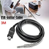 Favourall USB/6.3mm USB A 6.3mm Black cable interface/gender adapter - Link Connection PC Instrument Cable Interface/Gender Adapters 3M