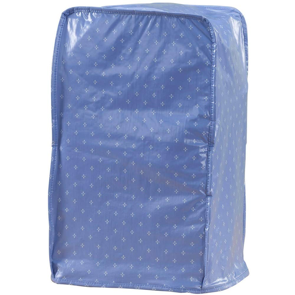 "Petal Print Easy Fit Flexible w/Soft Fleece Backing Vinyl Blender Cover - Durable, Elastic, Easy-to-clean - 16"" L x 9"" W x 7"" D (Blue)"
