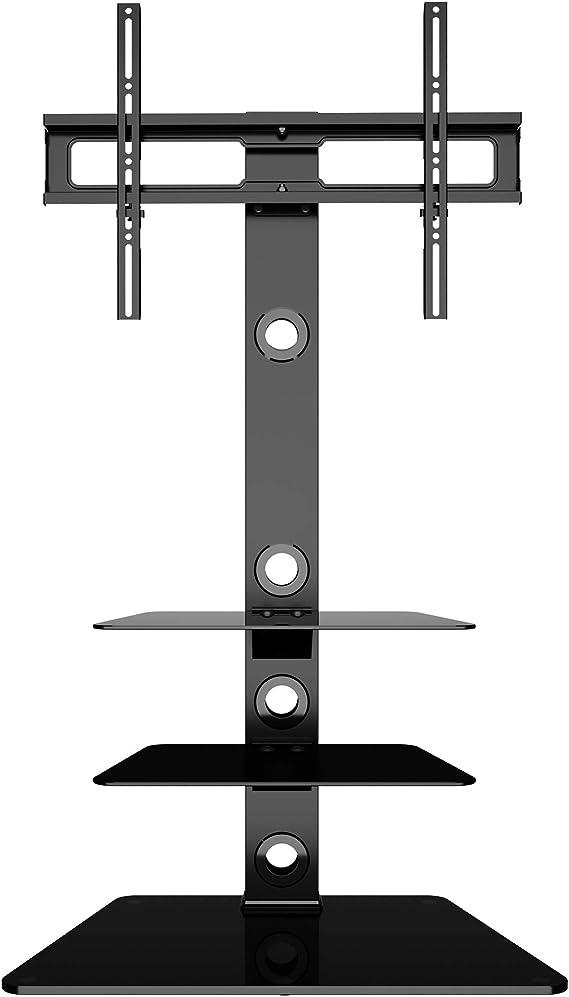 BONTEC Soporte Giratorio de Suelo para LCD LED Plasma Flat Curved TVs de 30-65 Pulgadas, con 3 estantes de Vidrio Templado,MAX VESA 600x400 mm: Amazon.es: Electrónica