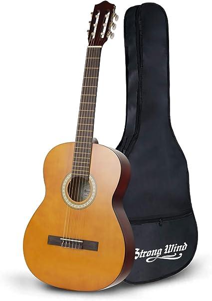 Guitarra para principiantes Strong Wind Guitarra clásica Guitarra acústica 39 pulgadas 6 cuerdas de nylon para principiantes de guitarra para estudiantes Niños adultos: Amazon.es: Instrumentos musicales