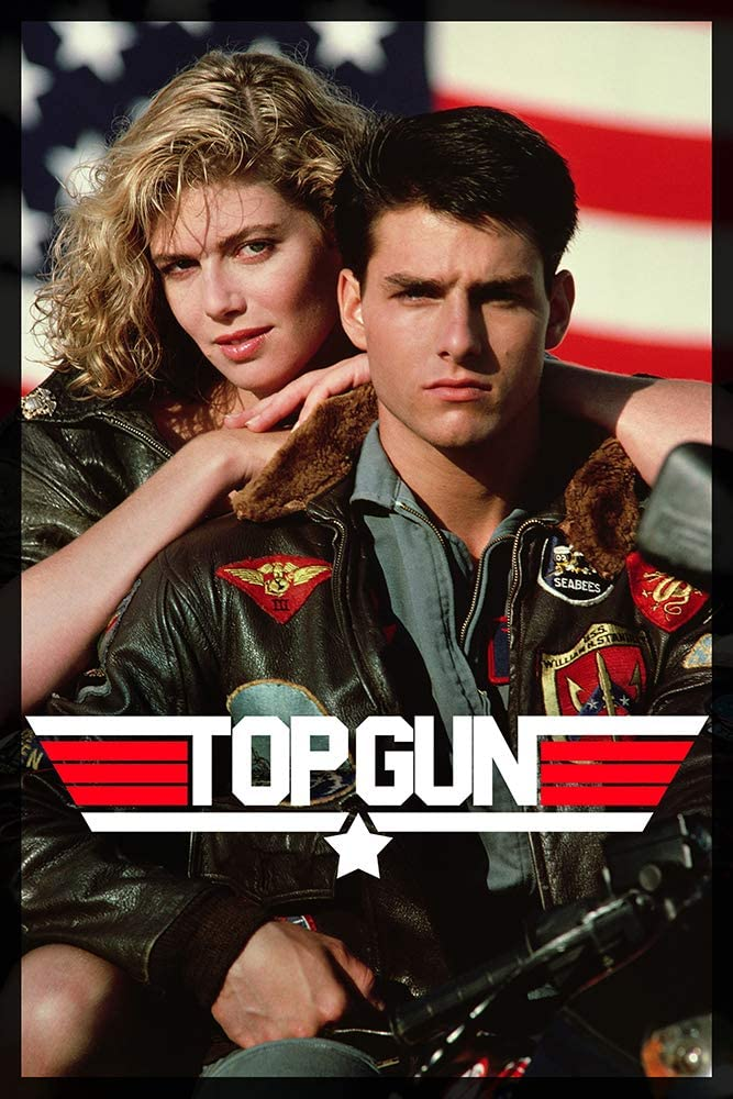 Top Gun Movie Tom Cruise and Kelly McGillis 80s Poster Print - 16x25 inch(40cmx63cm) Frameless Gift