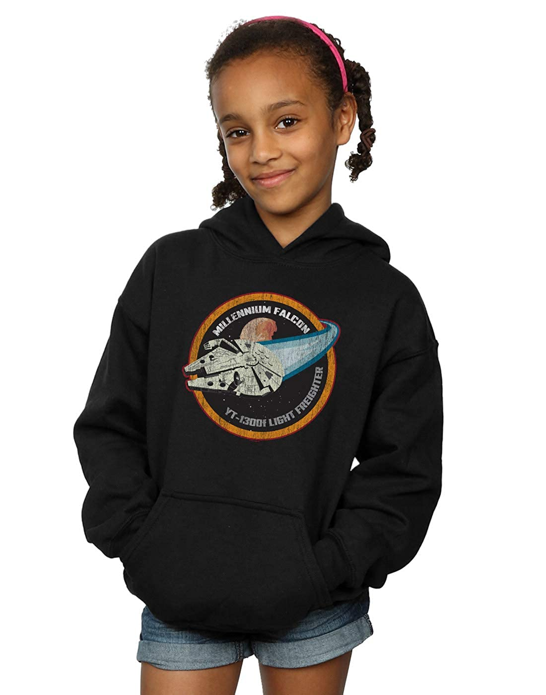 Star Wars Girls Millennium Falcon Badge Hoodie